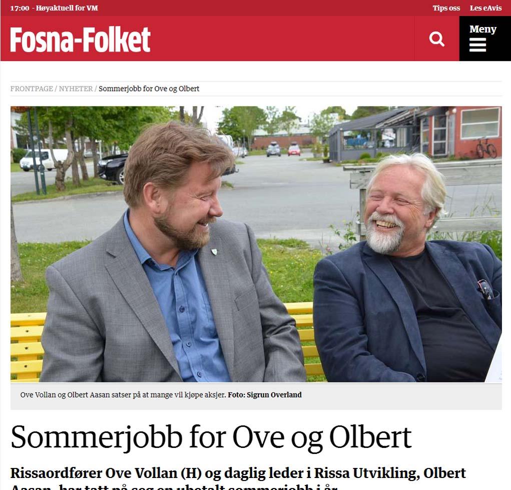 Sommerjobb for Ove og Olbert