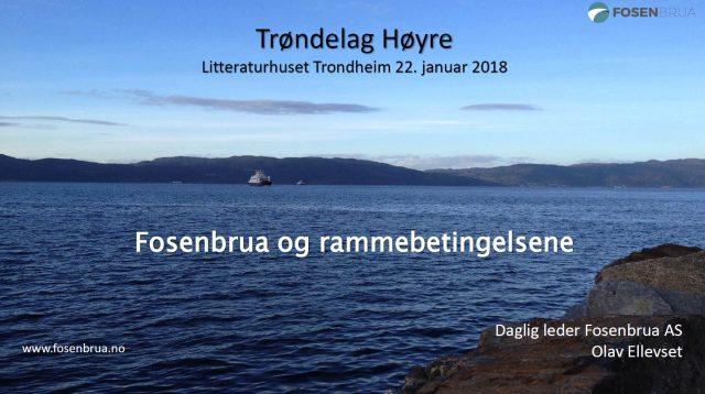 Møte Trøndelag Høyre, Litteraturhuset Trondheim 22-01-18