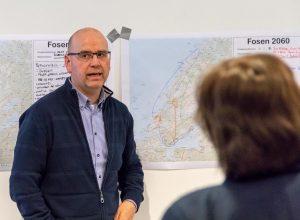 John Einar Høvik (ordfører Osen kommune). Fosenbrua - møte Årnes (Åfjord) 07-05-18