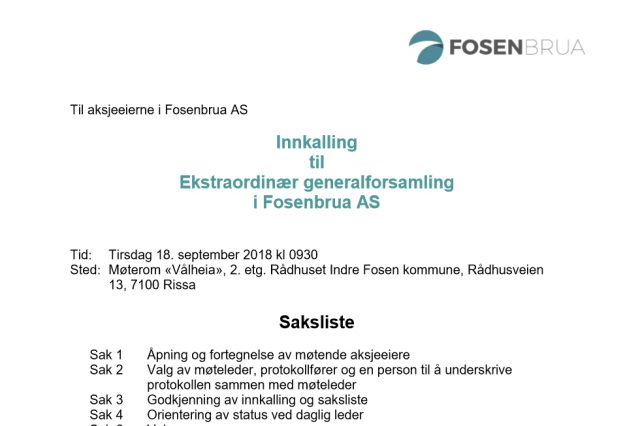 innkalling-ekstraordinar-generalforsamling-fosenbrua-18-09-2018